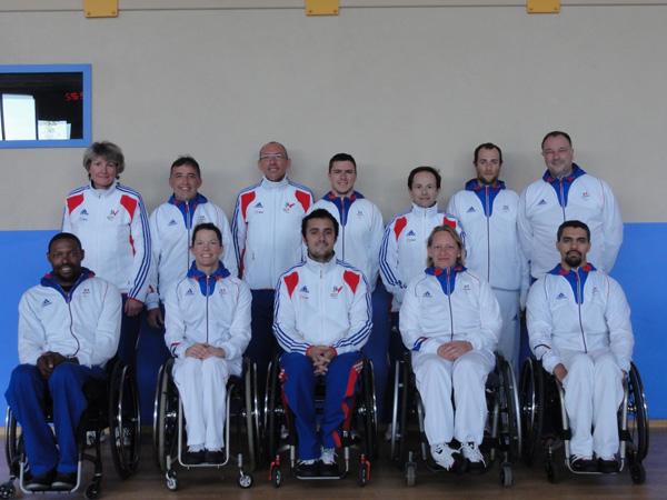 Complexe Euro-méditerranéen - entrainement de l'équipe de France paralympique d'escrime au centre sportif Marceau Crespin en Lozère